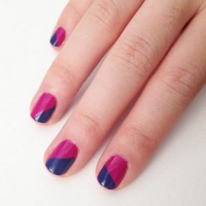 Миниатюра к статье Красим ногти двумя цветами