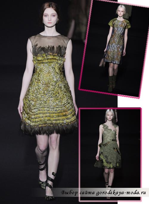Миниатюра к статье Модные платья осень-зима 2014-2015