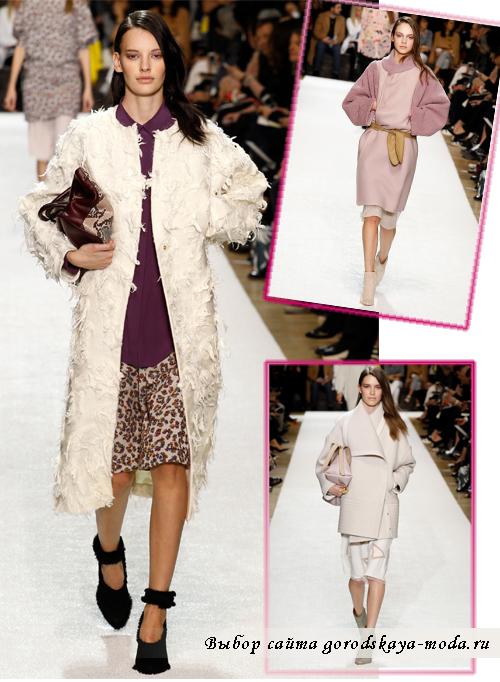 Модные пальто осень-зима 2014-2015 в коллекции Chloe