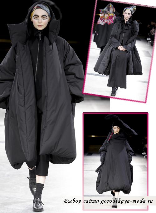 Креативные пальто осень-зима 2014-2015 от Yohji Yamamoto
