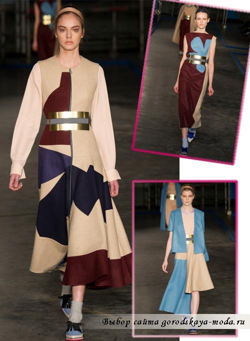 Roksanda-Ilincic модные шерстяные платья зима 2014-2015