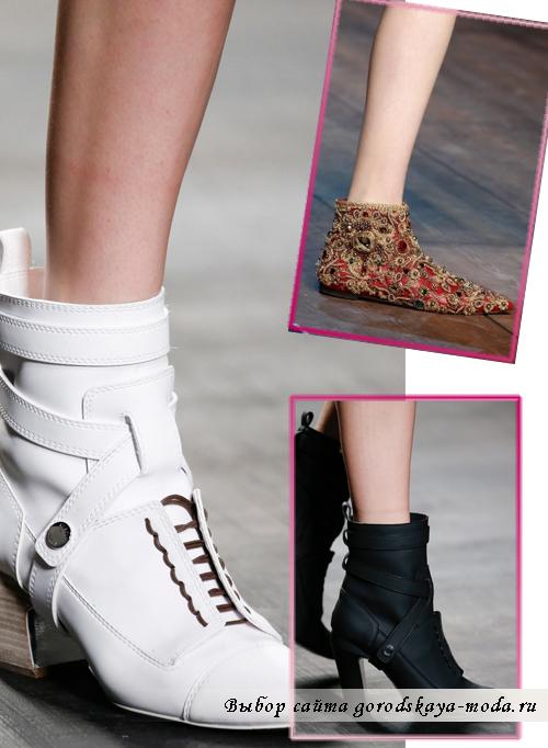 Модные ботинки и ботильоны осень зима