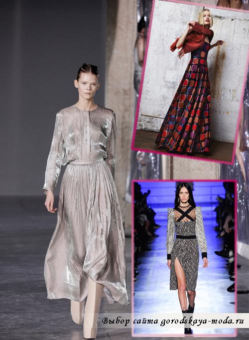 длинные модные вечерние платья осень-зима 2014-2015