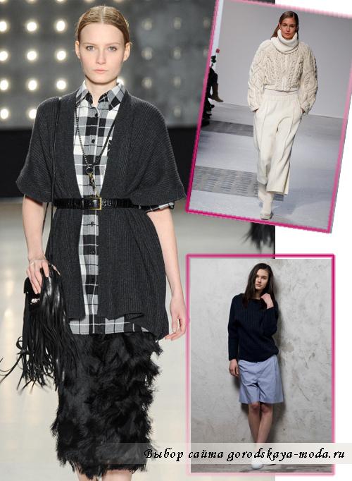 Модные кофты зима 2015 для женщин разной длины