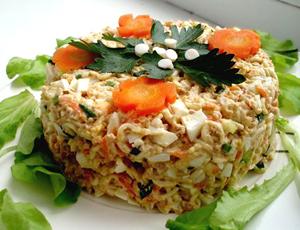 Рецепт приготовления салата из печени трески