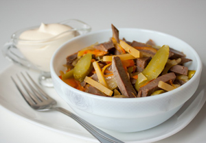 Рецепт приготовления салата из свиного язык