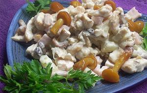 Рецепт приготовления салата из говяжьего языка с грибами