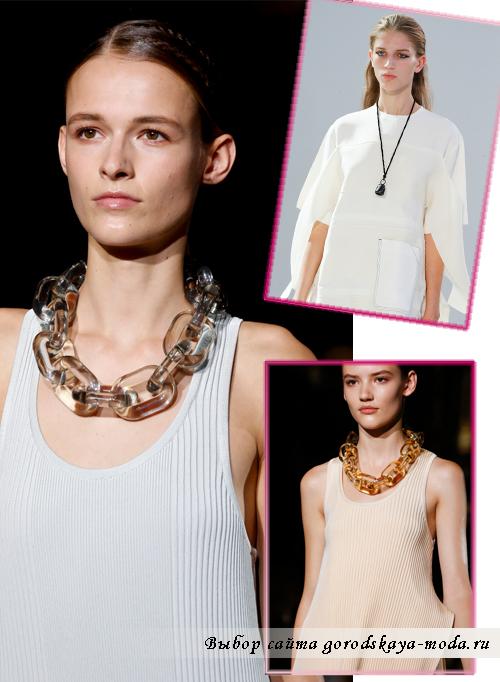 ожерелья и подвески весна-лето 2015