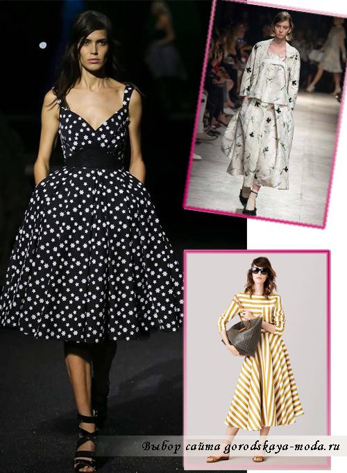 Платья с пышными юбками весна-лето 2015