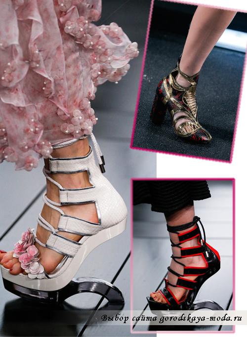 Сложный и необычный дизайн туфель 2015