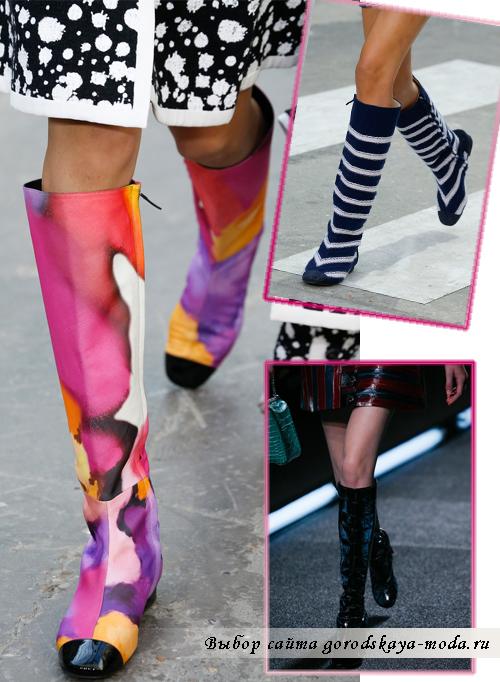 Миниатюра к статье Модные сапоги и ботинки весна-лето 2015