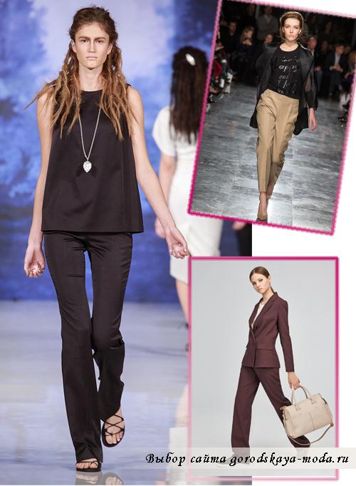 женские брюки, изготовленные в мужском стиле сезона весна-лето 2015