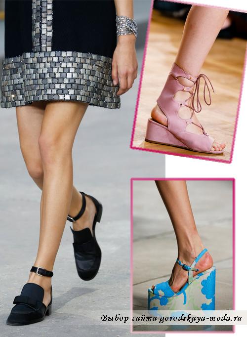 Модные туфли с ремнями весна-лето 2015