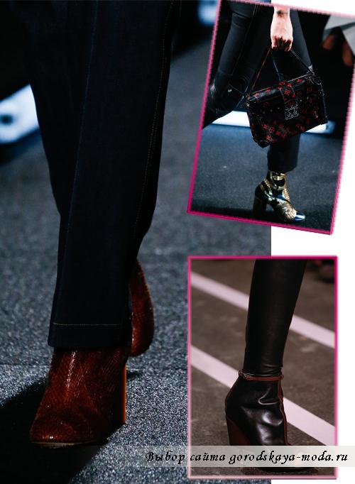 Модные сапоги и ботинки весна-лето 2015