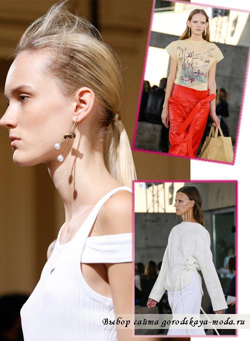 Модные серьги весна-лето 2015