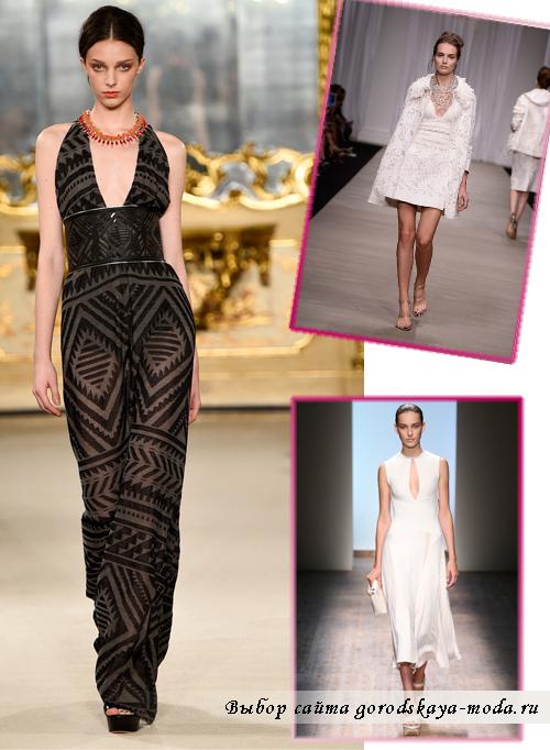 Платья с глубокими разрезами весна-лето 2015