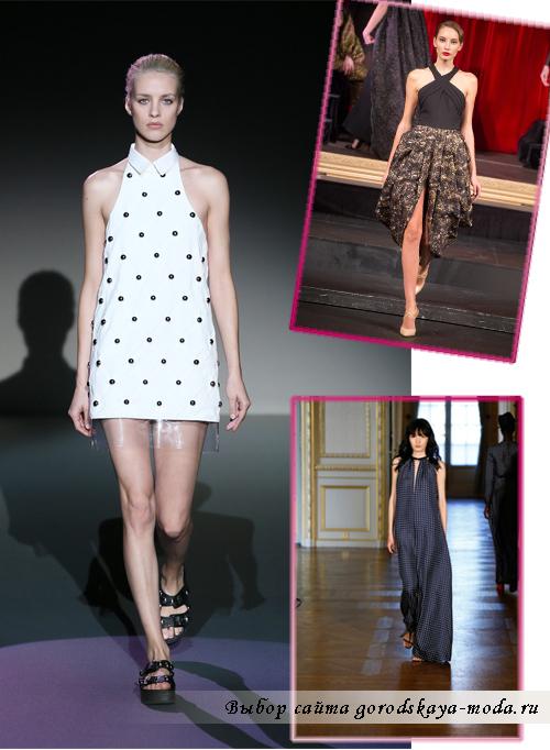 новом сезоне весна-лето 2015 актуальными являются платья с американским вырезом
