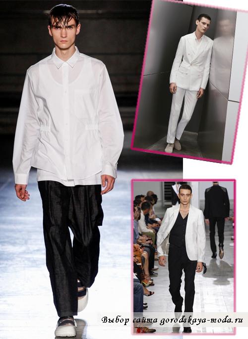Чёрный и белый в мужской моде 2015