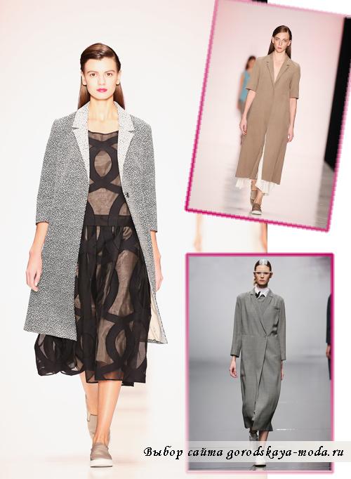 женские пальто мужского стиля на весну 2015