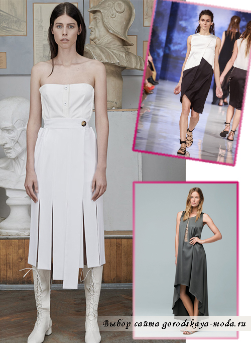 В сезоне весна-лето 2015 в моду вновь возвращаются асимметричные подолы