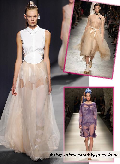 Платья из полупрозрачных материалов весна-лето 2015