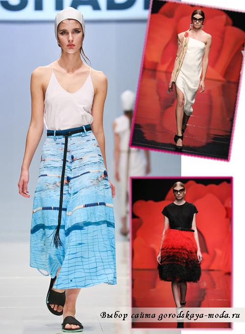 разные юбки миди на сезон весна 2015