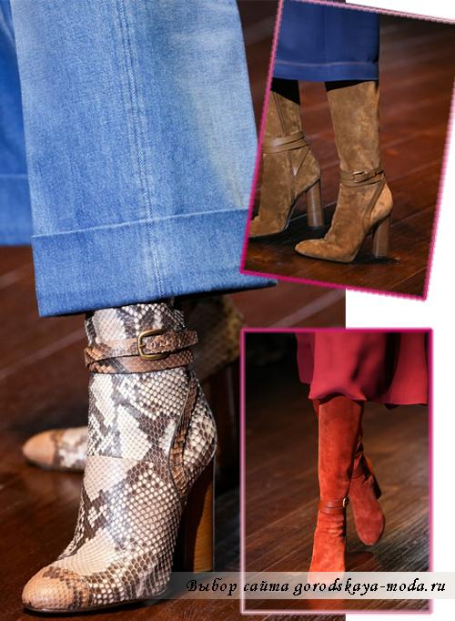 Модные сапоги и ботинки весна-лето 2015 Gucci
