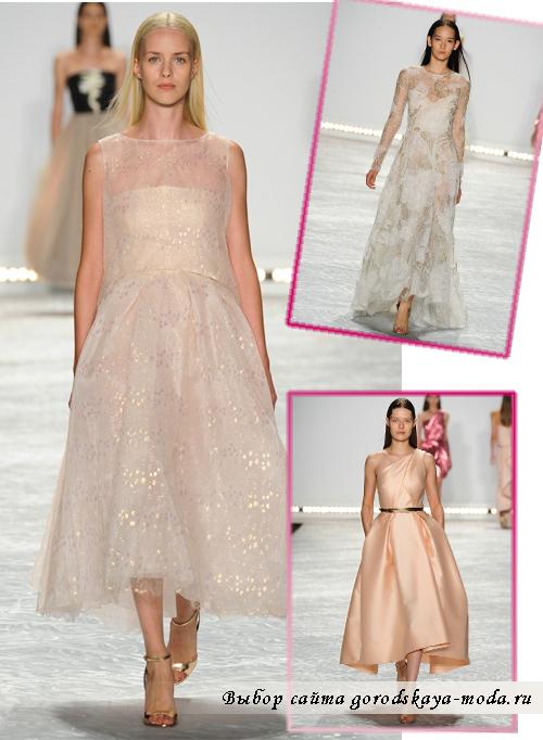 свадебные платья разных цветов Monique-Lhuillier