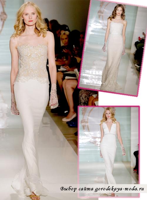 свадебные платья стиля Ампир Reem-Acra сезона весна 2015
