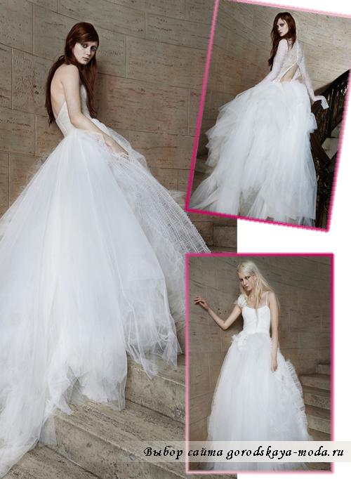 свабедные платья Vera-Wang сезона весна 2015
