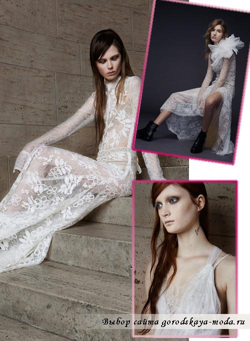 Vera-Wang свадебные платья из тюли сезона весна 2015