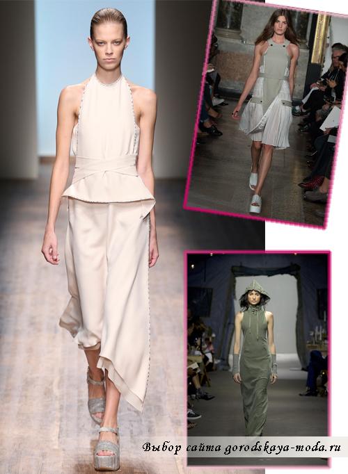 Модные сарафаны с классической американской проймой лето 2015