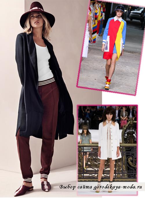 Женские пальто средней длины весна-лето 2015