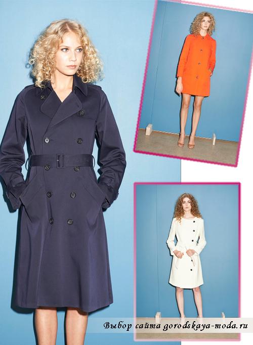 женские пальто весна 2015 с поясом классического кроя