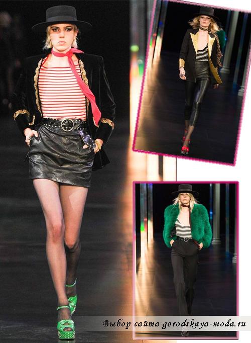 модные блузы в полоску весна-лето 2015