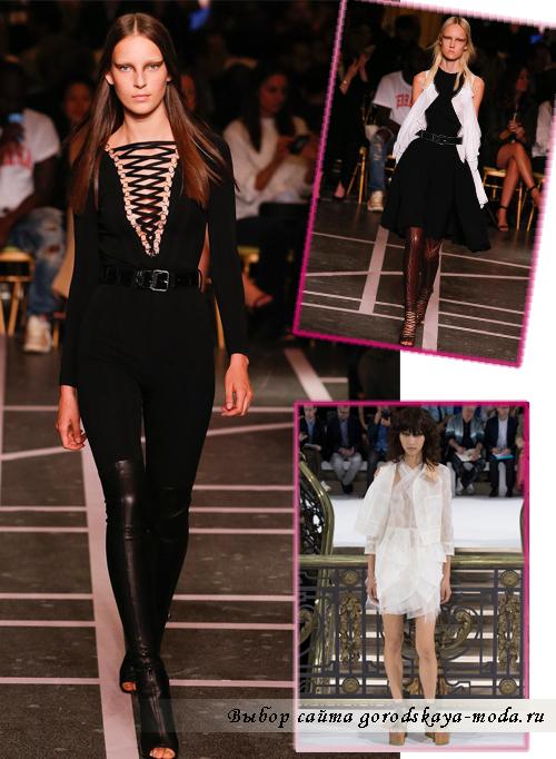модели блуз с необычными вырезами  весна-лето 2015